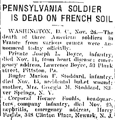 WWI Casualties November 1917