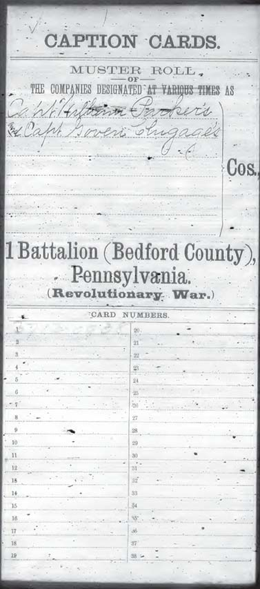 Revolutionary War Compiled Service Records of Pennsylvania Troops